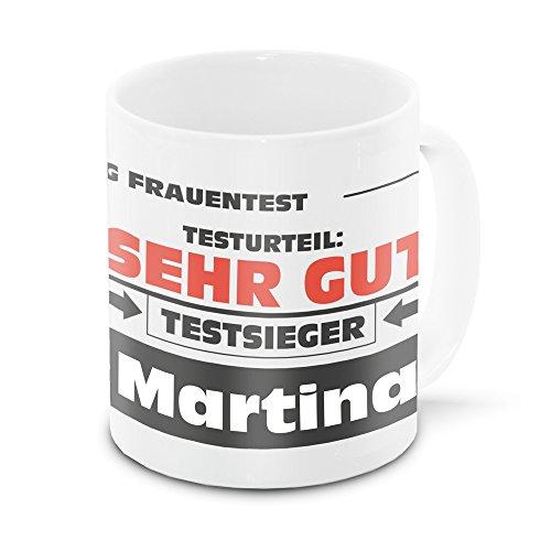 Namens-Tasse Martina mit Motiv Stiftung Frauentest, weiss   Freundschafts-Tasse - Namens-Tasse