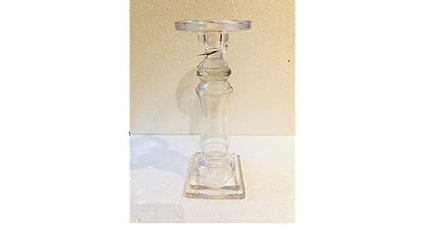 Msa kerzenständer glas groß für stab und stumpenkerzen amazon