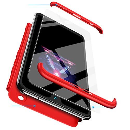 BESTCASESKIN Funda Xiaomi Mi MAX 2, Carcasa Móvil de Protección de 360° 3 en 1 Desmontable con HD Protector de Pantalla Carcasa Caso Case Cover para Xiaomi Mi MAX 2 (Rojo)