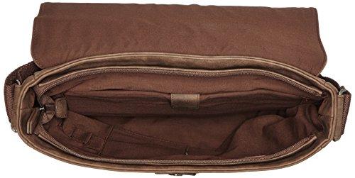 s.Oliver (Bags) Herren Messenger Schultertasche, 35x27x9 cm Braun (dark brown 8720)