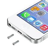 Wigento Pentalobe Torx Gehäuse Schrauben für Apple iPhone 5 5s Backcover 2 Stück Silber