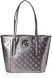 GUESS Women's Open Road Small Tote, Pewter - PY71