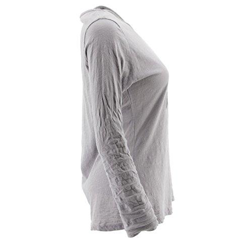 Netgozio Top à Manches Longues - Femme * Taille Unique Gris
