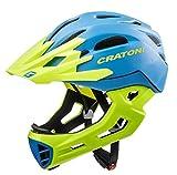 Cratoni Fahrradhelm C-Maniac, Blue-Lime Matt, 54-58 cm, 112406B2