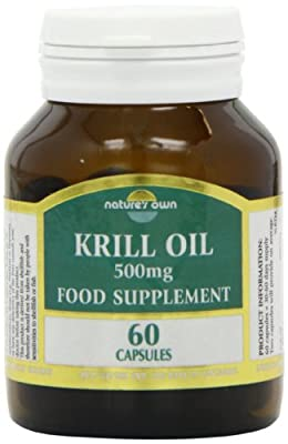 Natures Own 500mg Krill Oil Capsules - Pack of 60 Capsules