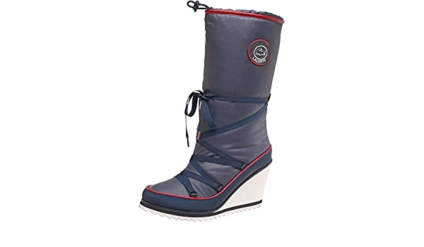 bcf857ad32250c Lacoste Womens Aubina SRW Boots Dark Blue  Amazon.co.uk  Shoes   Bags