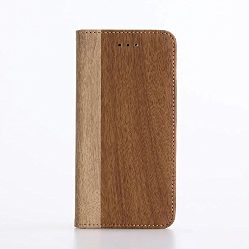 "inShang iPhone 7 Coque 4.7"" Housse de Protection Etui pour Apple iPhone7 4.7 Inch,Coque Avec support fonction, Pochette super- utile, Wallet design with card slot Wood brown"
