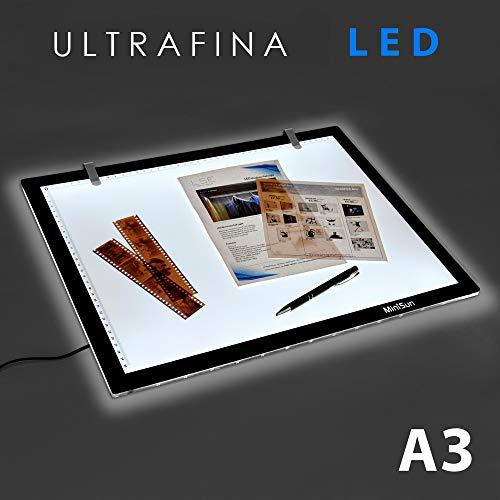 MiniSun - Tableta de luz LED de tamaño A3 ultra fina para diseño, dibujo y manualidades