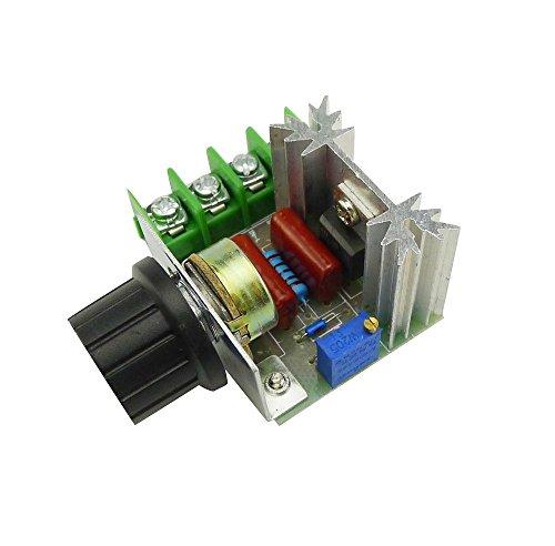 UIOTEC 2000W 50-220V 25A AC Adjustable Voltage Regulator PWM Pro Motor Speed Controller// 220V 2000W Speed Controller SCR Voltage Regulator Dimming Dimmers Thermosta