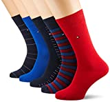 Tommy Hilfiger TH Men Sharp Stripes GIFTBOX 5P Chaussettes, Noir (Black 200), 43/46 (Taille Fabricant:043) (Lot de 5) Homme