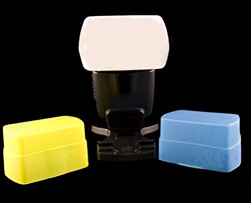 3 Farben Bouncer/Diffusorset 100% passgenau für Nikon SB-500