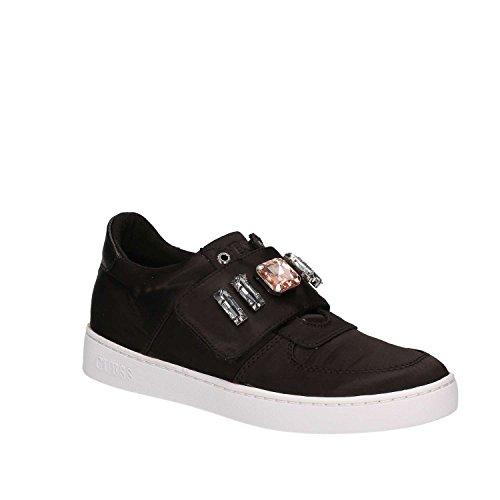GUESS (Flo) Sneaker Raso Satinato Strappo Gioielli FLFLO1SAT12 Nero