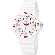 INWET Relojes para Niña Chicas Reloj Deportivo para Niñas Impermeable 50M Relojes Infantil Blanco