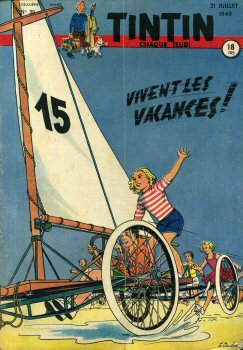 Tintin n° 39 - 1949 - couverture Paul Cuvelier