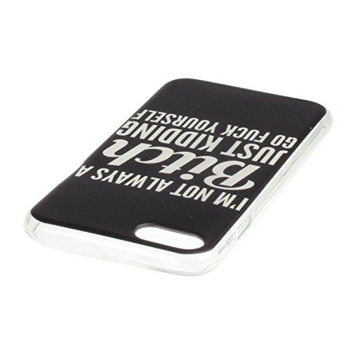 iPhone 7 Hülle,iPhone 7 Silikon Case,iPhone 7 Cover - Felfy Ultradünne Weicher Gel Flexible Soft TPU Silikon Transparent Hülle Schutzhülle Hülle Color Muster Farbmalerei Beschützer Hülle Handy Durchsi Bitch