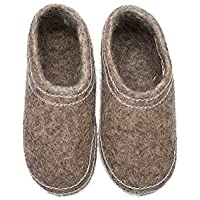 d465a643761a6b Felt felted wool slippers / clogs / Scandinavian house shoes / woman's /  men's unisex natural