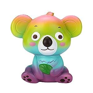 Jumbo Squishies Jouet, Sunenjoy Squishy Animal Koala Simulation Mignon Emoji Face Squeeze Slow Rising Scented Decompression Fun Toy