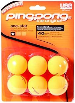 Un Ping Pong Ping (6 unidades) pelotas - naranja