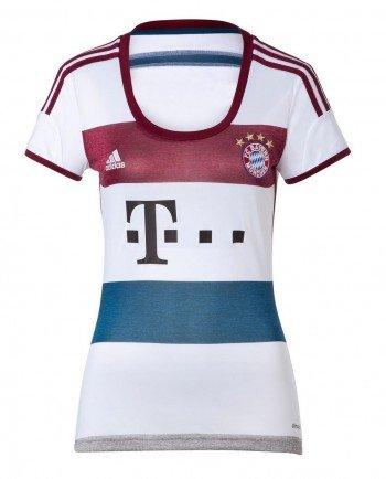 Grey Away Trikot (adidas Damen Trikot FC Bayern Away Jersey Women White/Mid Grey S14/Cardinal/Tribe Blue S14, M)