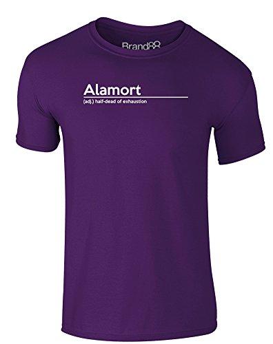 Brand88 - Alamort Definition, Erwachsene Gedrucktes T-Shirt Lila/Weiß