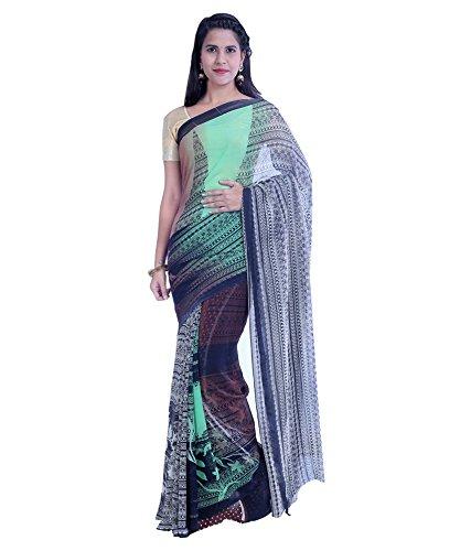 VINTAGE Girls cotton saree(VINTAGE O34_multi colour_Freesize)