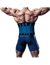 SGIN Rückenorthese, Lendenwirbelstützgürtel für Männer und Frauen Dual verstellbare Träger, hilft bei Schmerzen im unteren Rücken und Stress, Skoliose, Bandscheibenvorfall, Ischias - Blau