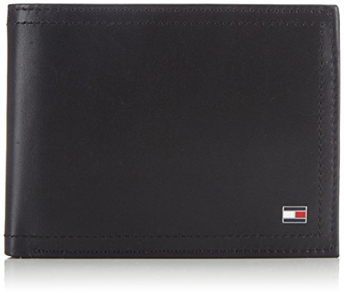 Tommy Hilfiger Herren HARRY CC FLAP AND COIN POCKET Geldbörsen, Schwarz (BLACK 990), 13x9x2 cm