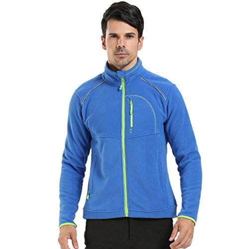 WanYang Homme Softshell Veste Interieur Blouson Fille Hiver Zippée Manteau Chaud Hiver Parka Jacket Bleu saphir (hommes)