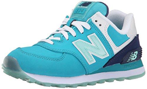 New Balance Nbwl574Sly - para Hombre, Nubuck Teal Blue, Talla 39