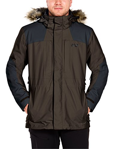 Jack Wolfskin Herren Thorvald 3-In-1 Jacke, Olive Brown, XL