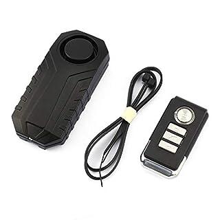 fengwen66 Wireless Remote Control Alarm Bicycle Car Vibration Alarm Safety Lock(Black)