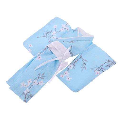 D DOLITY Schöne Puppe Kimono Kleid mit Blumen Muster Puppenkleidung Für 1/6 BJD Blythe Puppen Outfit - # - Puppe Kleidung Muster