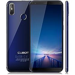 """CUBOT R11 (2018) Android 8.1 Smartphone in offerta Display 5.5"""" Proporazione 18:9, Fotocamera Posteriore 13 MP + 2 MP, Fotocamera Frontale 8 MP, 2GB RAM + 16GB ROM, Batteria 2800mAh, Quad-Core MT6580, Scansione delle Impronte Digitali, Wi-Fi, GPS, Bluetooth, 3G Telefono Cellulare (Blu) [CUBOT UFFICIALE]"""