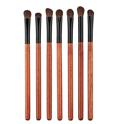 Pudincoco 7 pcs/Set Professionnel Fard à paupières pinceaux de Maquillage pinceaux Outils de Maquillage pour Les Yeux Kit de cosmétiques Kit Drop Shipping Gros (Rouge)
