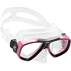 Cressi Focus Masque de Plongée Snorkeling Adulte, Compatibles Verres Correcteurs Clear/Rose