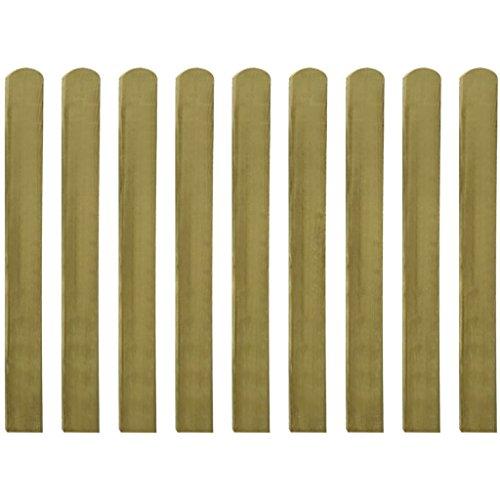 Tidyard Zaunlatte 10 STK 100 cm Imprägniertes Holz für Garten Patio Oder Lhre Terrasse