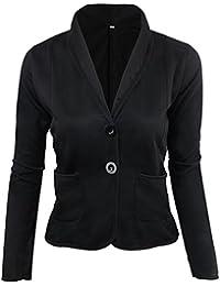 Minetom Mujer Manga Larga Fiesta Blazer Elegante Oficina Negocios Parte  Traje De Chaqueta Slim Fit Abrigo 59e7d108aa04