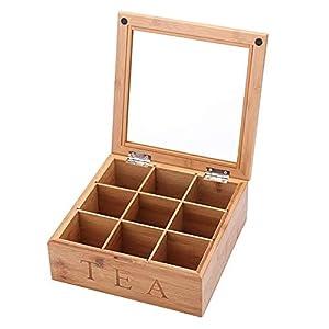 personfr Boîte à thé en Bois avec boîtes à thé et Compartiments