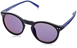 Fastrack UV Protected Square Mens Sunglasses - (P383BU2|49|Black Color)