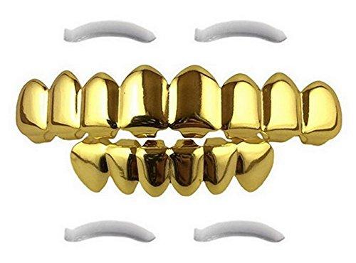 Imagen de v sol disfraz accesorios hip hop grillz dientes colmillo para halloween dorado color b