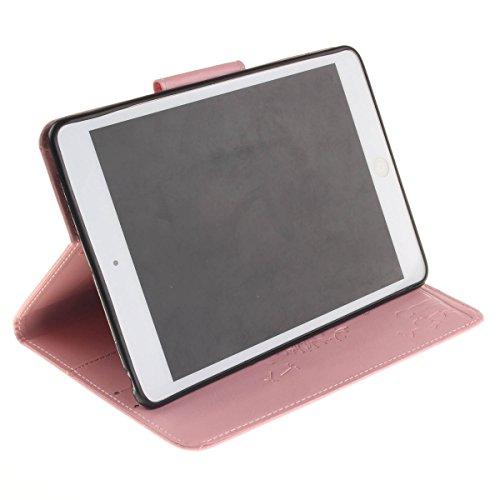 Coque iPad Mini 3 à Rabat avec Support,iPad Mini 2 Étui Housse,Ekakashop Jolie Motif Couple de Pissenlit Vert PU Cuir Protecteur Shell Tablette Couverture Filp Case Stand Coque Fermeture Magnétique Pl Rose