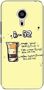 The Racoon Grip printed designer hard back mobile phone case cover for Meizu M3 Note. (Cream B52)