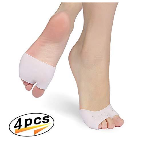 Plantillas metatarsales en gel Bola de almohadillas para los pies, almohadillas en los dedos del pie Mangas en forma de juanete