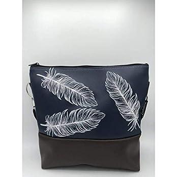 Handtasche 3 Federn Schultertasche/Umhängetasche *bestickt