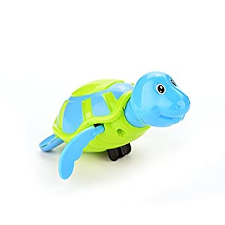 Attractive beauty Bath Toys, Wind-up Swimming Turtle for Kids Water Fun Random Color