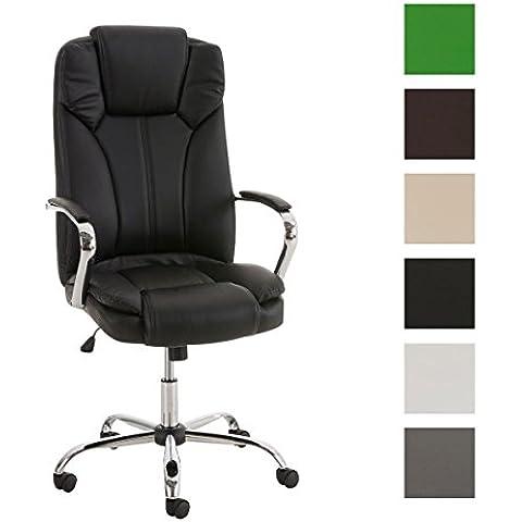 CLP Silla de oficina XXL XANTHOS, acolchado grueso, asiento ergonómico, función de balanceo, peso máx. 210 kg, 6 colores