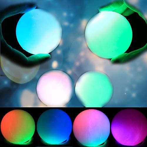 Magic LED Jumping Music Bounce Ball,Farbwechsel mit Stimmungslicht,7 Light Modes Sensorisches Spielzeug,Blinklicht,Flashing PVC Ball