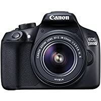 Canon EOS 1300D DSLR Camera with EF-S18-55 IS II F3.5-5.6 Lens - Black