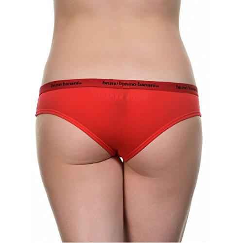 Bruno Banani Damen Rio Slip Basic Smoothly Cotton 2er Pack Rot (rot 8)