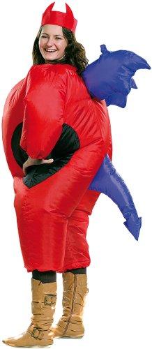 Playtastic Männer-Kostüme: Selbstaufblasendes Kostüm 'Teufel' (Aufblasbares Kostüm)